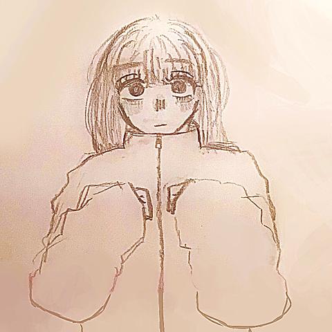 萌え袖女の子の画像(プリ画像)