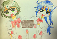 昴ちゃんと切絵ちゃんがお誕生日をお祝いします!の画像(プリ画像)