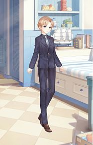 ストライプの紳士の画像(男装に関連した画像)