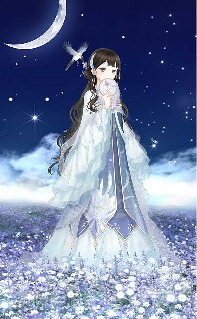 織姫と七夕の宵の画像(プリ画像)