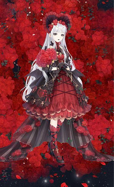 血色の薔薇の画像(プリ画像)