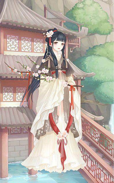 桃の花園(カーキ)の画像(プリ画像)