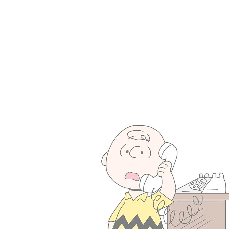 電話をするチャーリーブラウン壁紙