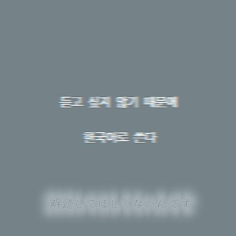 ※聞かれたくないから韓国語で書くの画像 プリ画像