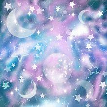 宇宙柄 マーブリング 月 星 キラキラ プリ画像