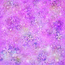 宇宙柄 花と星柄 キラキラ プリ画像