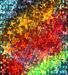 星とステンドグラスのデジタル?ホログラム風?(意味不) プリ画像