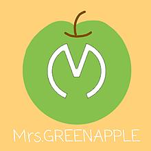Mrs.GREENAPPLE   ロゴ🍏の画像(#りんごに関連した画像)