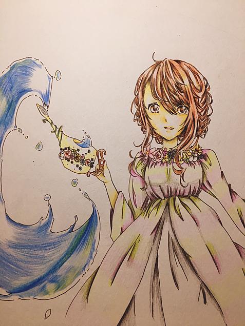 花に水やり💐の画像(プリ画像)