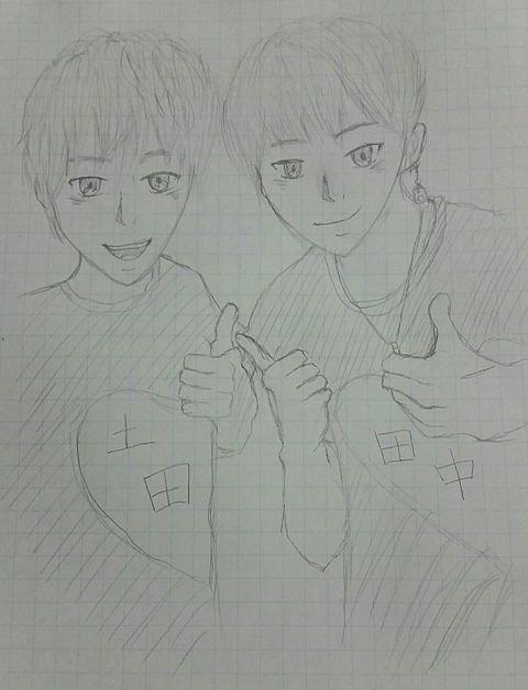 土田&田中の画像(プリ画像)