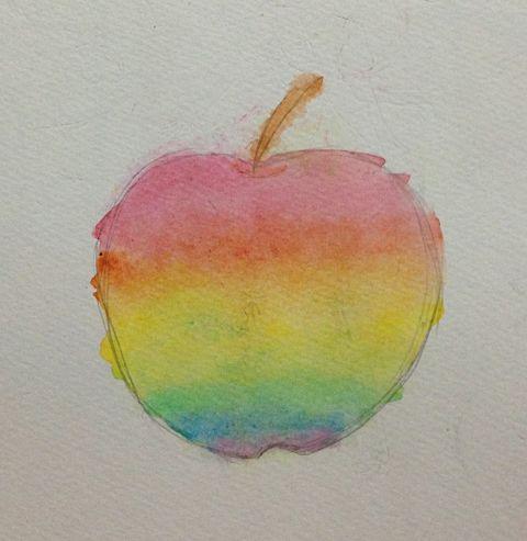 虹色林檎の画像(プリ画像)