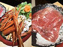 2016/1/7ディナー かにや(福岡・中洲)の画像(蟹に関連した画像)