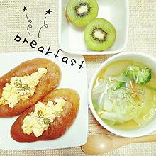 2014/8/14朝食 プリ画像