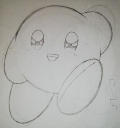 カービィをシンプルに描いてみたの画像(プリ画像)