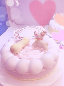 バースデイケーキ  ぱすてる ピンク 夢かわいい  dogの画像(バースデイケーキに関連した画像)