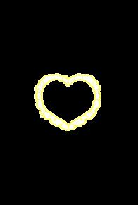 ハートフレーム ver.yellow プリ画像