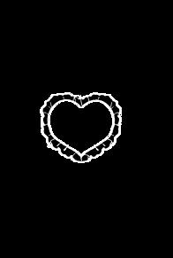 ハートフレーム ver.black プリ画像
