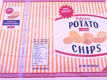 ポテトチップスの下敷き プリ画像