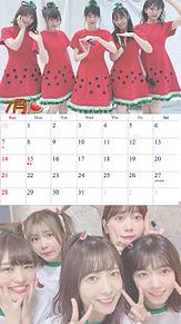 7月のカレンダー付き壁紙の画像(川後陽菜に関連した画像)