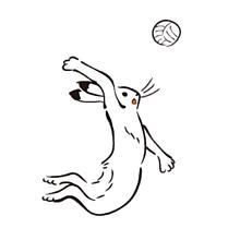 バレーボールの画像(鳥獣戯画に関連した画像)