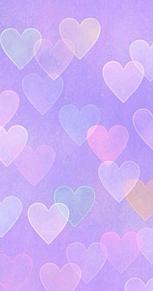 カラフルハート&紫壁紙の画像(紫 ハートに関連した画像)