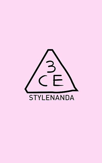 3CE  ロゴ  色違いペア画の画像 プリ画像
