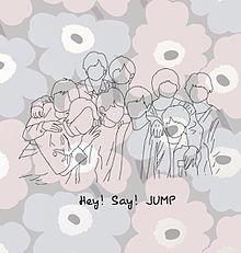 Hey! Say! JUMP うちわ用線画の画像(senseorloveに関連した画像)