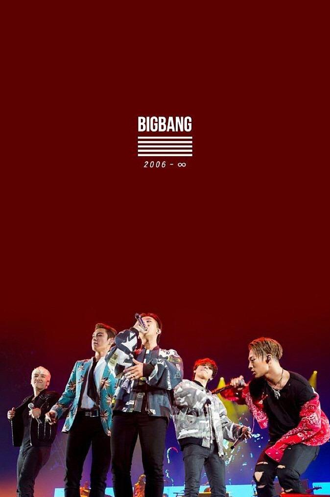 歌っているBIGBANGのメンバーの高画質壁紙です。