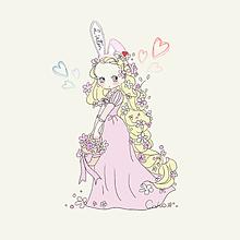 かわいいプリンセスの少女のイラストのイラスト素材ベクタ Image