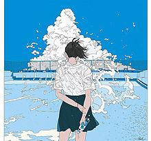 女の子 青春 制服 イラスト プール 空 可愛いの画像(プール イラストに関連した画像)