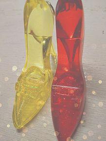 深紅とひまわりYELLOWのガラスの靴❤💛の画像(靴に関連した画像)