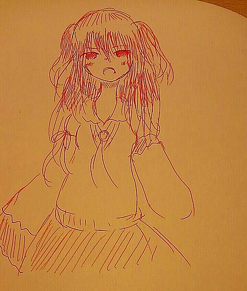 赤ペンでレオナは描けるのかチャレンジ(((の画像(プリ画像)