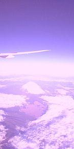 飛行機からの空の画像(富士山に関連した画像)