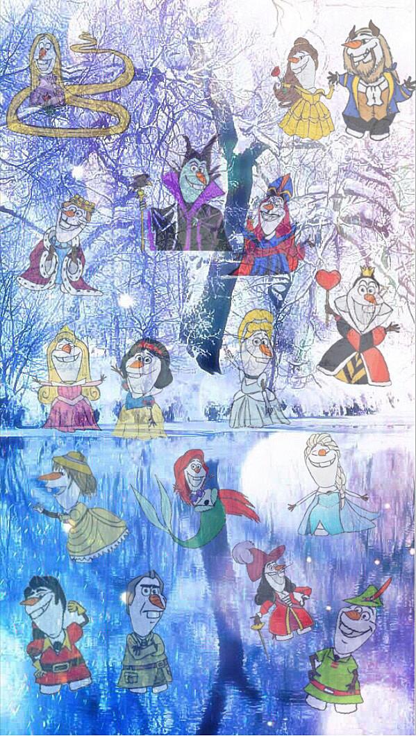 ディズニーキャラに扮する可愛いオラフの壁紙