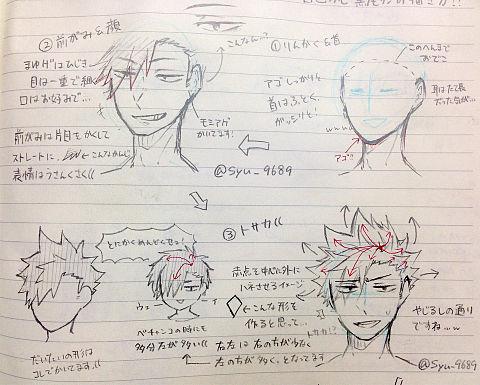 黒尾さんの描き方!の画像(プリ画像)