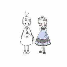 ディズニー プリンセス イラスト ペア画の画像(プリに関連した画像)