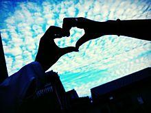 ハートと空の画像(プリ画像)