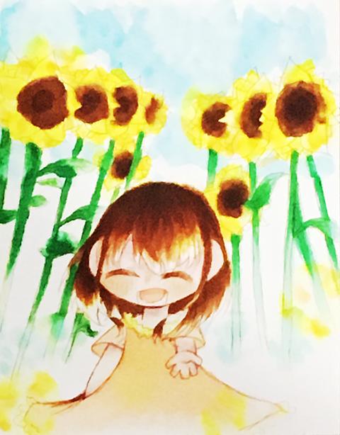 夏っぽい絵描いてみた!の画像(プリ画像)