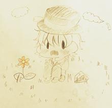 レトさんとお花の画像(レトルトに関連した画像)