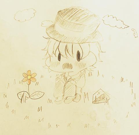 レトさんとお花の画像(プリ画像)