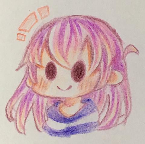 色鉛筆だけで女の子描いてみた!の画像(プリ画像)