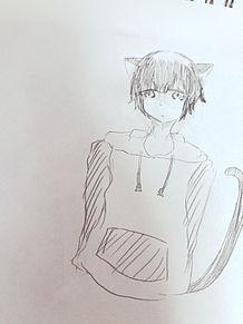 黒猫擬人化の画像(プリ画像)