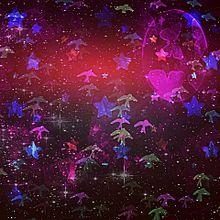 月に蝶、星に鳥の画像(プリ画像)