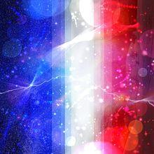宇宙柄もどき フランス国旗風?の画像(プリ画像)