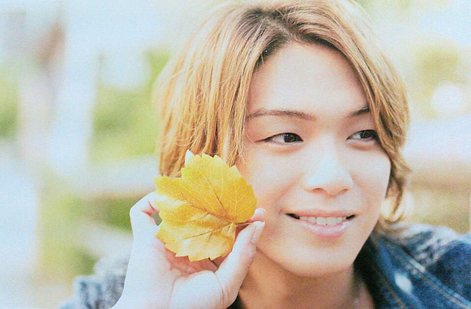 葉っぱを持つ高木雄也