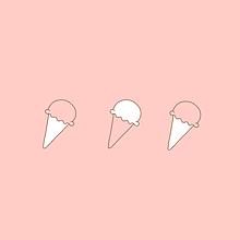 ペア画 アイスクリーム ソフトクリーム お菓子 スイーツ ポエムの画像(スイーツ イラストに関連した画像)
