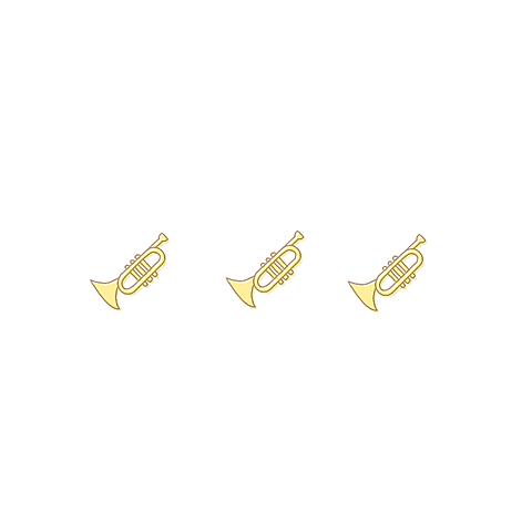 吹奏楽部コンクールトランペットパート金管楽器金管バンドポエム素材の画像 プリ画像
