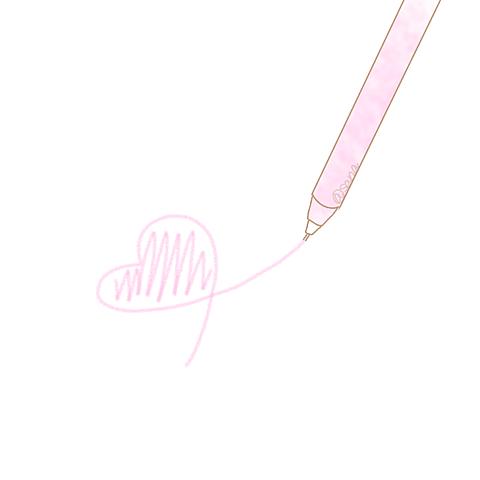 ポエム素材ハート水色ピンクペンの画像(プリ画像)