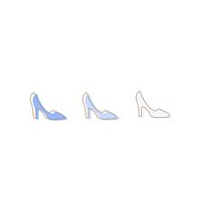 靴ハイヒールプリンセスおしゃれポエム素材の画像(靴に関連した画像)