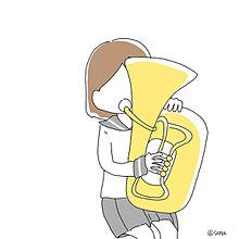 吹奏楽部ポエム素材チューバトランペットの画像(チューバに関連した画像)
